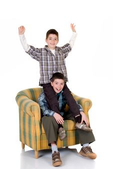 Free Two Happy Brothers Royalty Free Stock Photography - 5588627