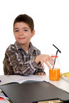 Free Boy Doing Homework Royalty Free Stock Photos - 5588628