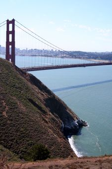 Free Golden Gate Bridge - Portrait View Stock Photos - 5588773