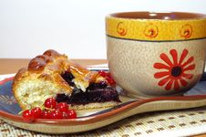 Pie And Tea Royalty Free Stock Photography