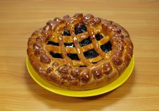 Fresh Sweet Pie With Bilberry Royalty Free Stock Photography