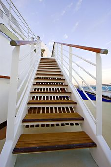 Free Stairway On Cruise Ship Stock Image - 5588901