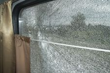 Free Cracked Train Window Royalty Free Stock Photography - 5589077