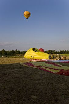 Free Hot Air Balloons Landing Royalty Free Stock Photo - 5589785