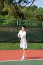 Free Aisan Tennis Player Stock Photo - 5592090