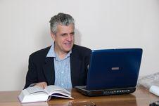 Free Businessman At Computer Stock Photos - 5590013