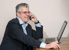 Free Businessman At Computer Stock Photos - 5590153