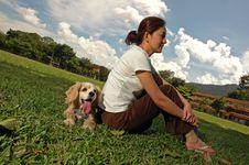 Free Happy Dog At Field Royalty Free Stock Photo - 5590175