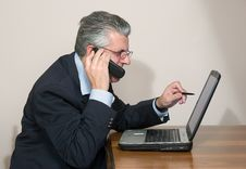Free Businessman At Computer Stock Photography - 5590202