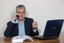 Free Businessman At Computer Royalty Free Stock Photos - 5590278