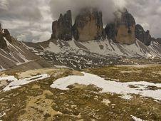 Free Dolomites - Tre Cimes Stock Photography - 5590282