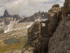 Dolomites Mountains View Royalty Free Stock Photo