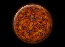 Free Red Alien Planet Royalty Free Stock Image - 5590626