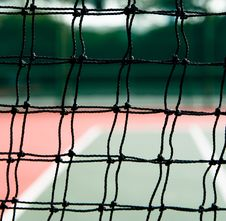 Free Tennis Court Through The Net Royalty Free Stock Photo - 5592075