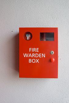 Free Fire Warden Box Royalty Free Stock Photos - 5592078