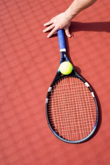 Free Tennis Ball And Racket Stock Photo - 5592110