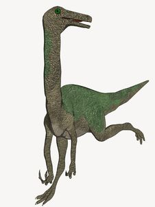 Free Cartoon Dinosaur Running Away Stock Photos - 5593073