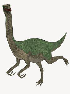 Free Cartoon Dinosaur Running Away Stock Images - 5593074