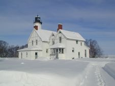 Free Snowy Lighthouse Royalty Free Stock Photography - 5593367