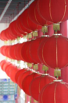 Free Red Lanterns Royalty Free Stock Photo - 5593805