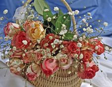 Free Basket With Flowers Royalty Free Stock Image - 5595076