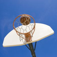Free Basketball Hoop In Park Stock Photo - 5596680