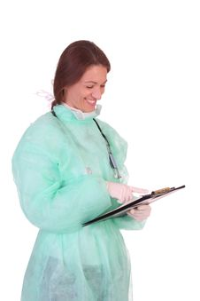 Free Healthcare Worker With Documents Stock Photography - 5596782