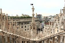 Free The Image From The Rooftop Of Duomo Stock Image - 5597491