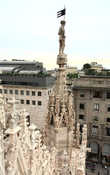 Free The Image From The Rooftop Of Duomo Stock Photos - 5597493