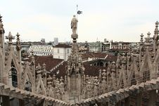 Free The Image From The Rooftop Of Duomo Royalty Free Stock Images - 5597499