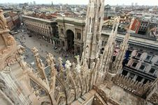 Free The Image From The Rooftop Of Duomo Royalty Free Stock Image - 5597556