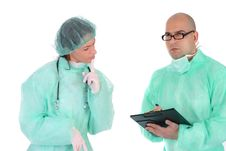 Group Of Healthcare Workers Royalty Free Stock Photo