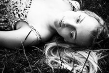 Free Blond On Grass Royalty Free Stock Photos - 5597718