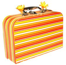 Free Striped Suitcase Royalty Free Stock Images - 5597869