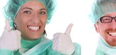 Successful Healthcare Workers Royalty Free Stock Photos