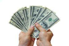 Free Money In Hand Stock Image - 5599211