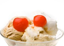 Free Ice-cream A Glass. Royalty Free Stock Images - 5599739