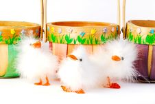 Free Three Easter Chicks Stock Photos - 561553