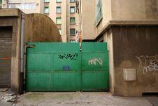 Free Green Gate Marseille Royalty Free Stock Photos - 563758