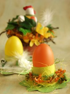 Free Easter Eggs Holders 2 Royalty Free Stock Photo - 563965