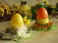 Free Easter Eggs At Holders Royalty Free Stock Image - 563966