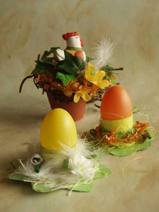 Easter Eggs Holders Royalty Free Stock Photos