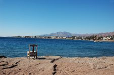 Free Empty Chair Near The Sea. Stock Image - 564611