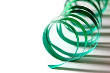 Free Curly Green Ribbon Royalty Free Stock Photos - 566708