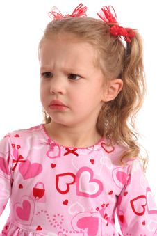 Free Scowling Little Girl Stock Images - 567724