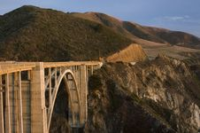 Free Bixby Creek Brige, Big Sur Royalty Free Stock Photography - 567877