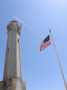 Free Alcatraz Lighthouse Stock Photography - 567882