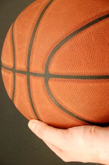 Free Hand Hold Basketball Royalty Free Stock Photos - 568208