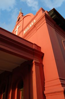 Free Red Church In Malacca Royalty Free Stock Photography - 568347