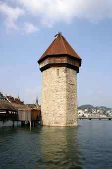 Chapel-Bridge In Lucerne Stock Photos